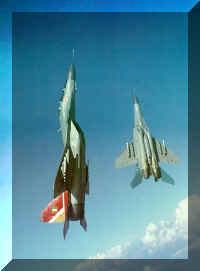 Touching the sky........The IAF's Mig-29Bs in vertical climb