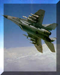A Mig-29B with 2 R.27R beyond-visual-range and 4 R.60 close combat missiles